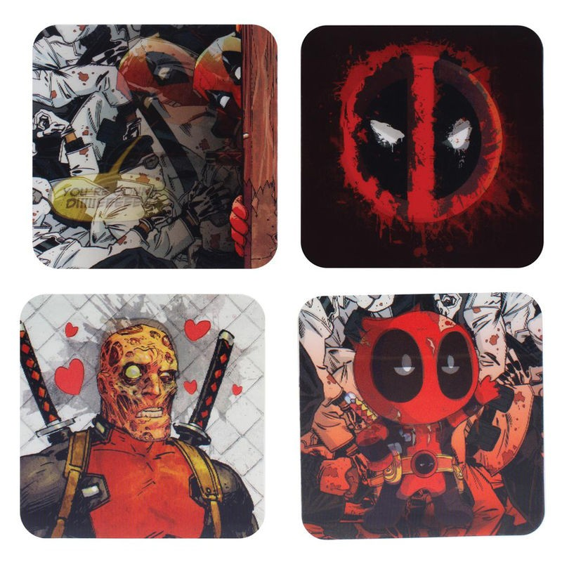 Posavasos 3D Deadpool Marvel