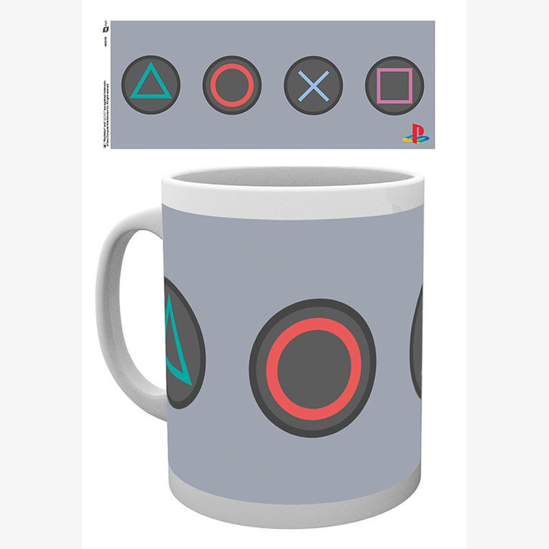 Taza Playstation Buttons