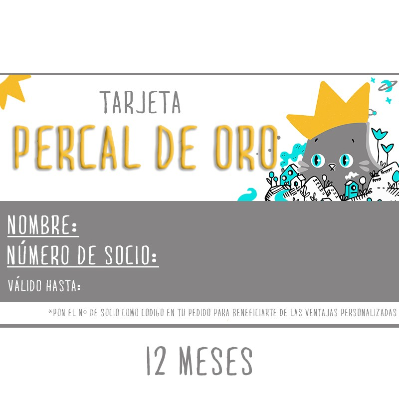 Tarjeta Percal de Oro 12